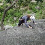 Initiation grande voie escalade à l'ermitage - Gorges du Loup