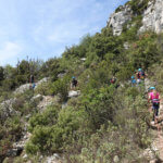 Escalade voie rouge à Saint Jeannet - Alpes Maritimes