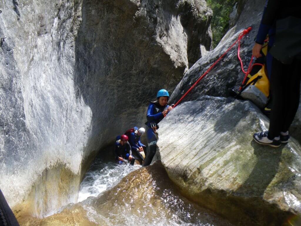 Descente du canyoning de la Maglia - Lesgeckos