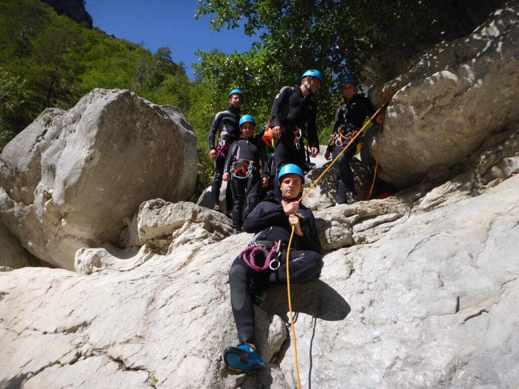 Descente du canyon de Riolan - Estéron