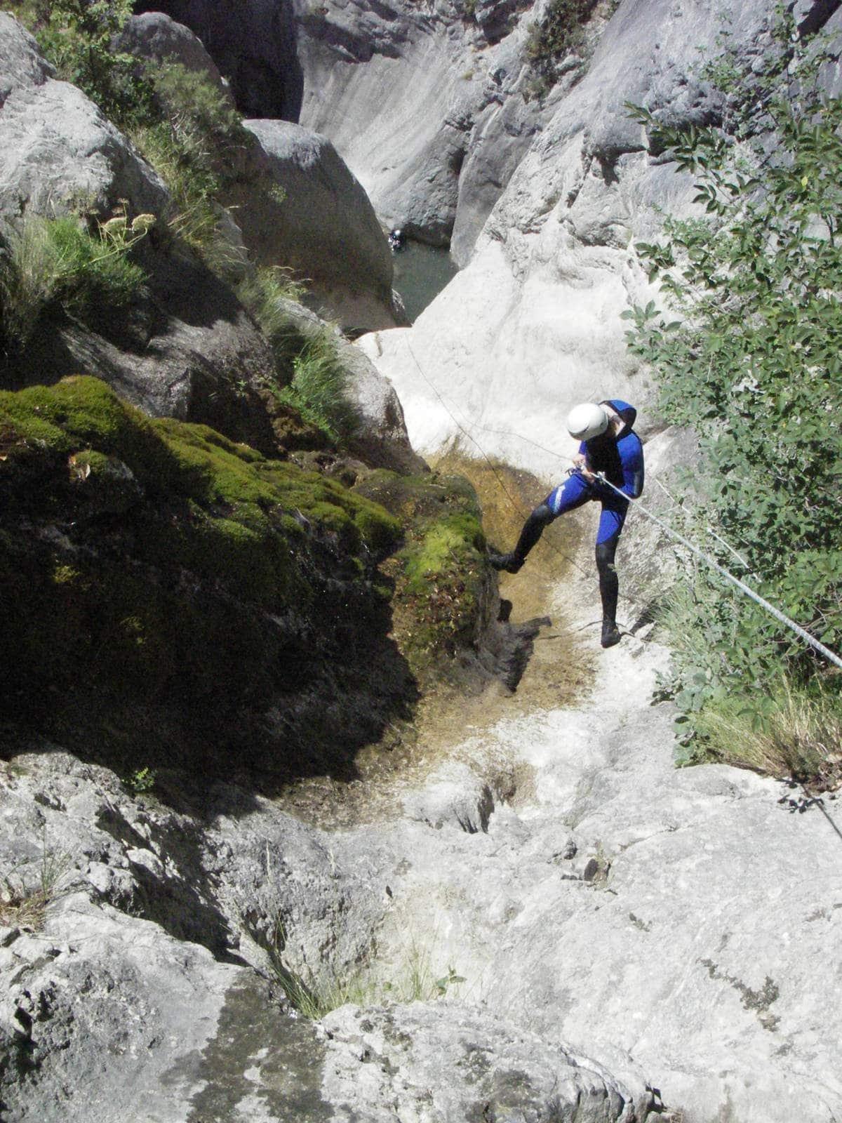 Descente canyoning Morghé Maglia