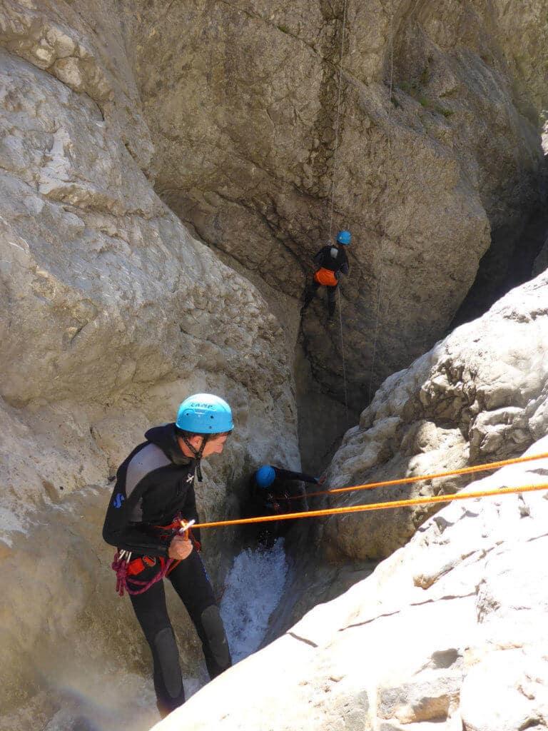 Rappel dans le canyon de Riolan - Estéron