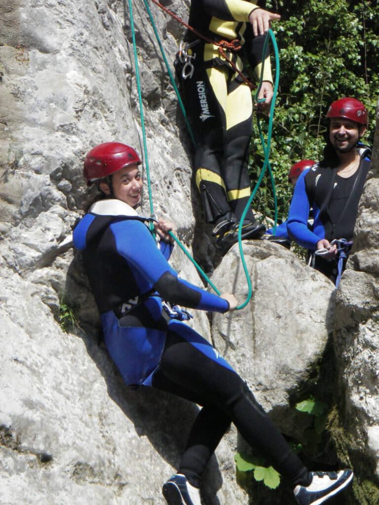 Descente en rappel canyon de Cuébris - Lesgeckos