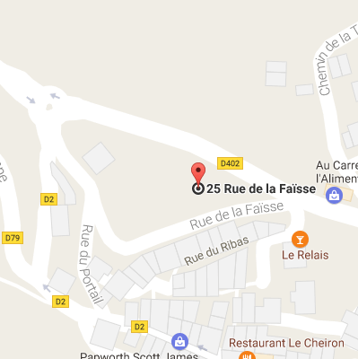 Google Map canyon du Gours du Ray - Lesgeckos