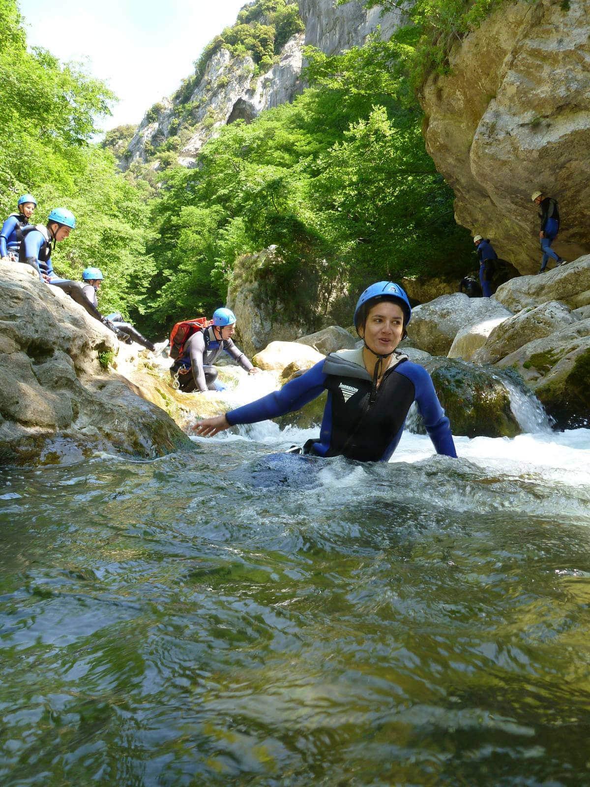 Natation dans le canyon du Loup - Grasse
