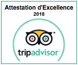 Attestation Excellence Tripadvisor 2018